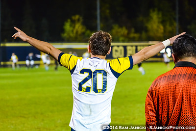 2nd Half from UM Men's Soccer Vs Notre Dame 10-7-14