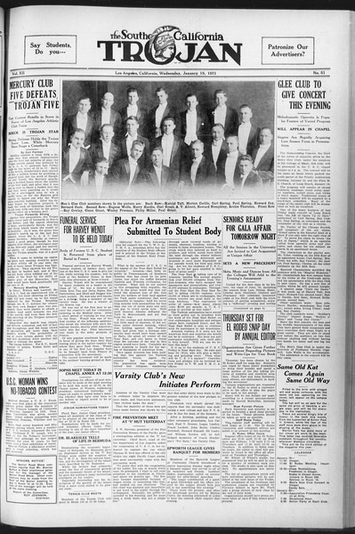 The Southern California Trojan, Vol. 12, No. 51, January 19, 1921