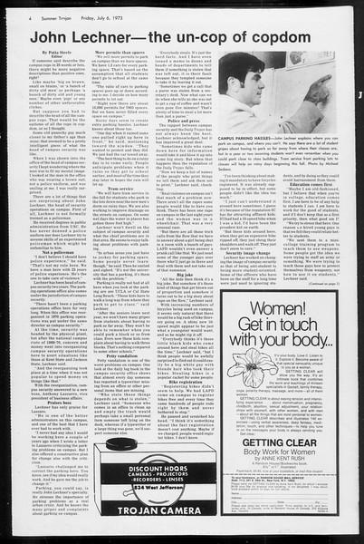 Summer Trojan, Vol. 66, No. 6, July 06, 1973