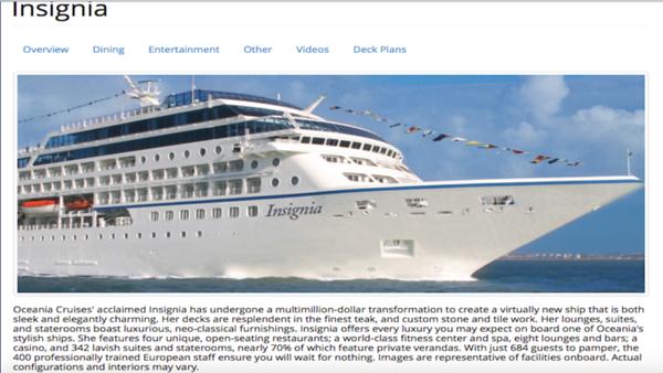 """Embark ~ Oceania's Ship """"Insignia"""" Fri., Dec. 1, 2017"""