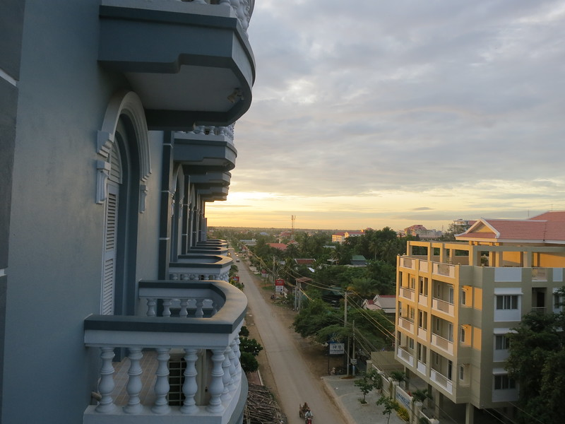View of Central Battambang from the King Fy in the morning
