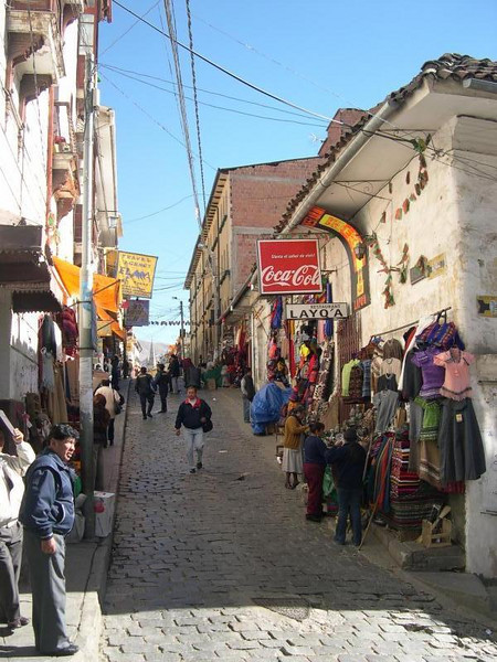 Shopping in La Paz.