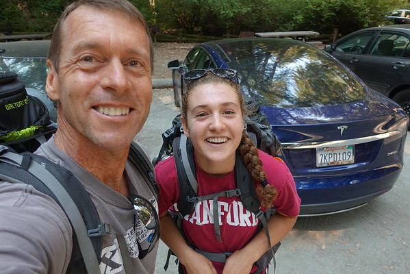 Kate and Dad Backpacking