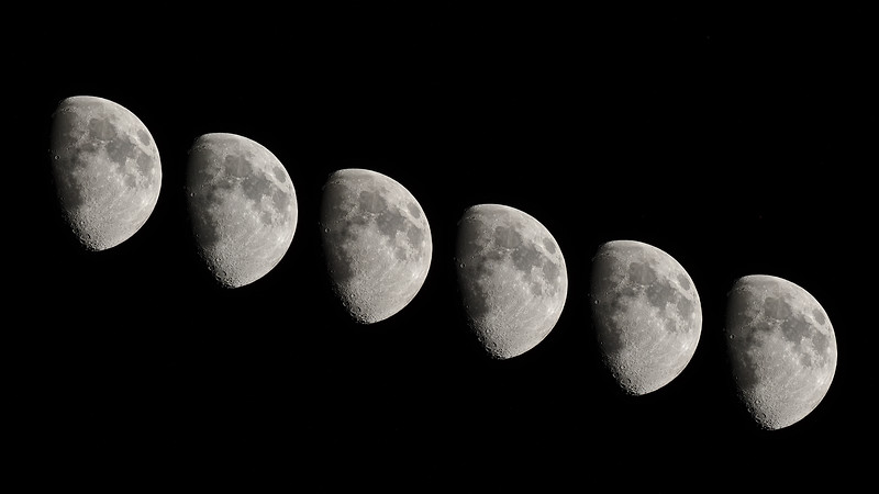 Gibbous Multiple Exposure