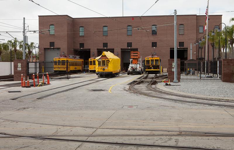 Trolley carbarn in Ybor City.
