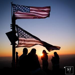 Mission Peak American Flag