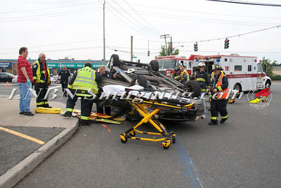 East Farmingdale Fire Co. Overturned Auto w/ Entrapment Rt-110 & Gazza Blvd. 7-11-13