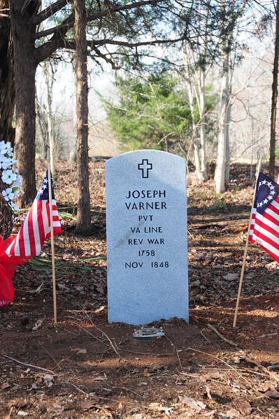 Joseph Varner Grave Dedication