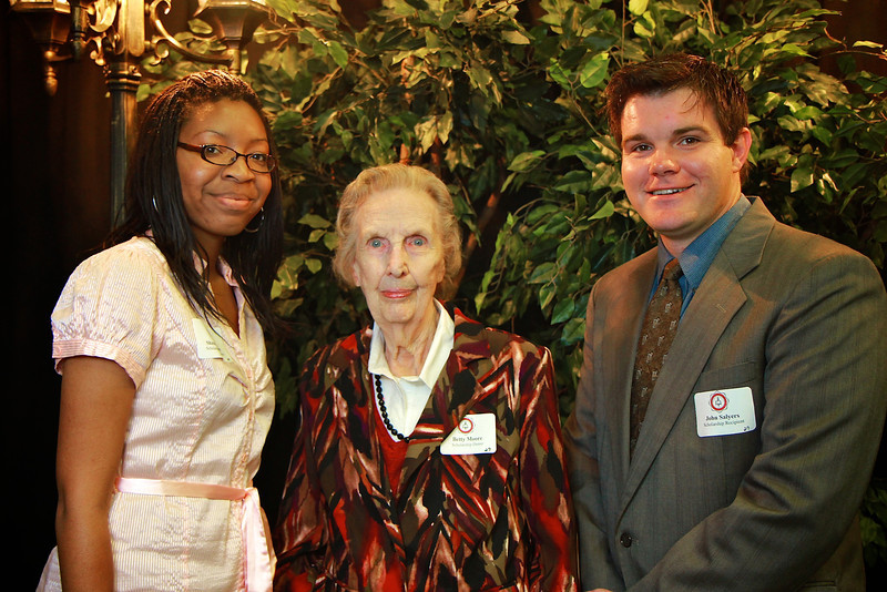 Betty Moore, John Salyers, Shawan Elder. Scholarship Luncheon at Gardner-Webb University.