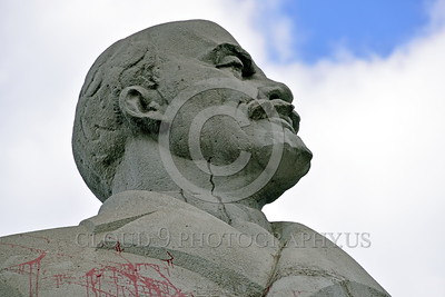 Pictures of Statues in Ukraine in Honor of Vladimir Lenin Scheduled for Destruction