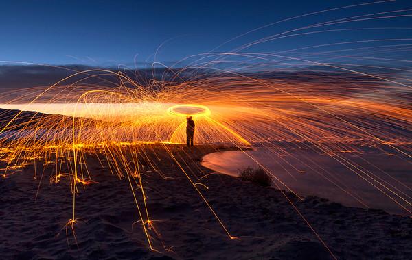 Fire spinning. Fireworks. Fun.