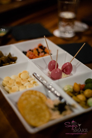 The Otsumami Plate ($8.00) offers a variety of little snacks. © 2016 Sugar + Shake