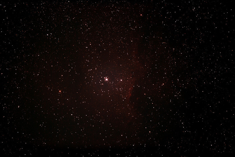 NGC6193 Open Cluster and NGC6188 - Gum 53 - Nebula in Ara - 18/7/2012 (Processed stack)