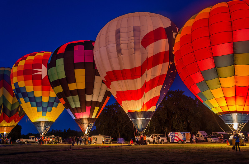 Sonoma County Hot Air Balloon Classic 2014, Windsor, California