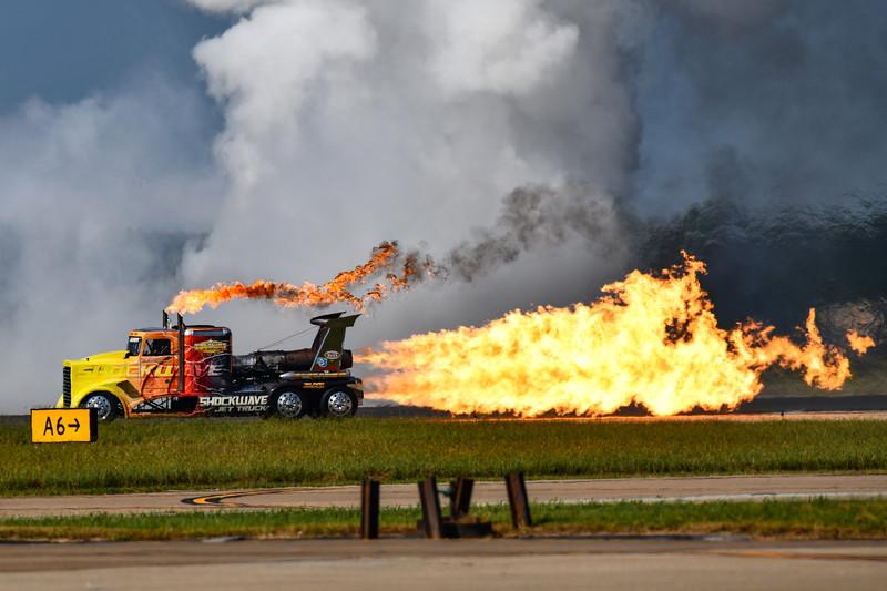 Skip Stewart Biplane Demonstration (with Shockwave Jet Truck)