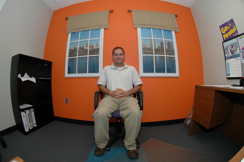 10/8/2007 - Jon Deutsch in his office with the view of Richmond.