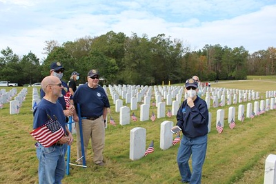 Flag Placement at Alabama National Cemetery  11/2020