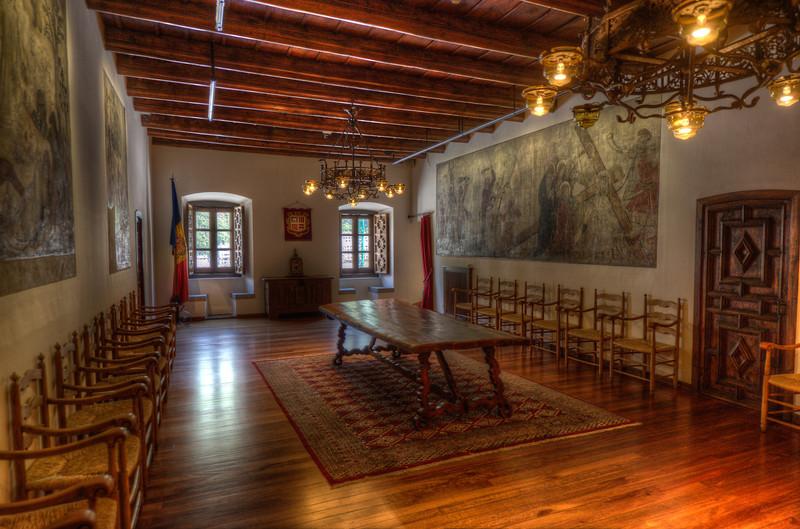 Details inside Casa de la Vall in Andorra