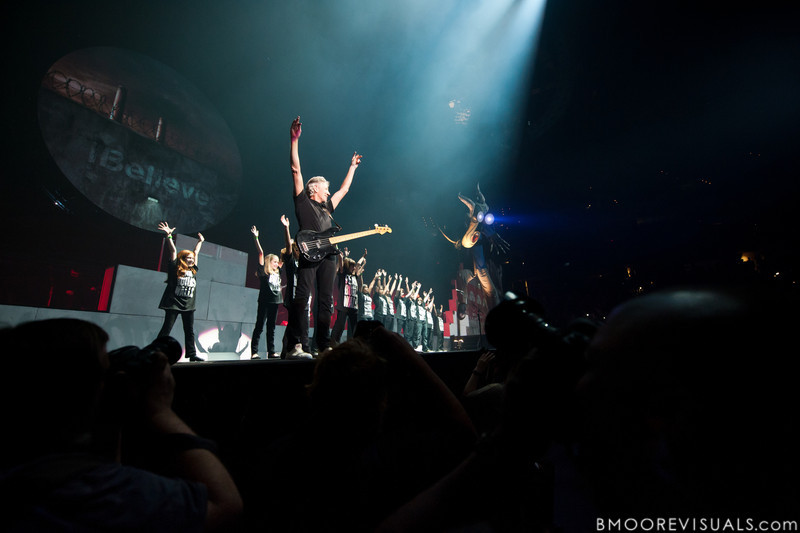 """Photographers cluster together to capture images of Roger Waters performing during his """"The Wall Live"""" tour on November 16, 2010 at St. Pete Times Forum in Tampa, Florida"""