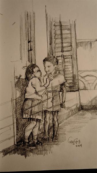 Sei je seenguli,  (The lost days) Pencil on paper, 2014- Biswajit Nayak