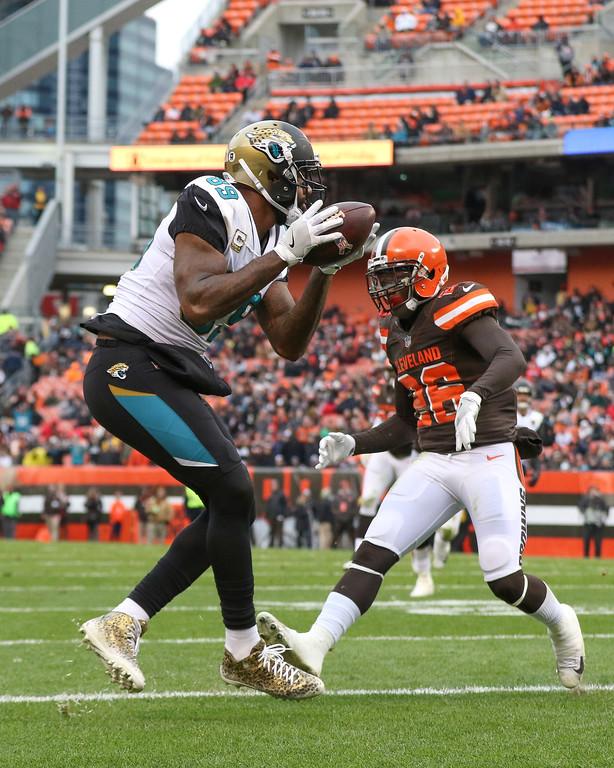 . Tim Phillis - The News-Herald Scenes from the Browns\' loss to the Jaguars on Nov. 19 at FirstEnergy Stadium in Cleveland.