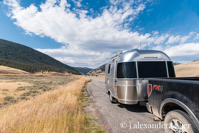 The trusty Airstream Bambi and Ford 150 FX4, perfect road companions.