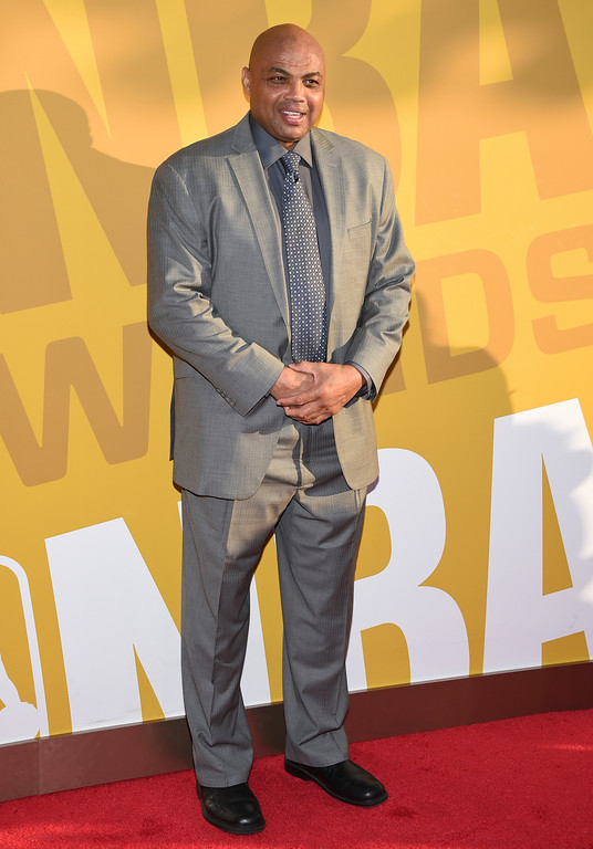. Charles Barkley arrives at the NBA Awards at Basketball City at Pier 36 on Monday, June 26, 2017, in New York. (Photo by Evan Agostini/Invision/AP)