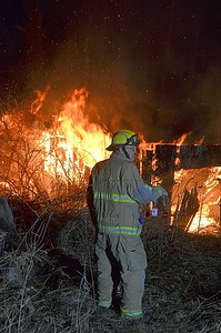 Ohio Township structure fire Mount Nebo Road