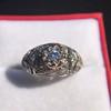 0.94ctw Vintage Old European Cut Diamond Dome Ring, Center OEC (GIA .59ct G SI2) 29
