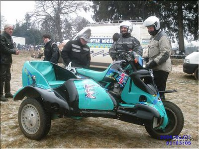 Jean claude vogel , three wheel drive KLX Sidecar