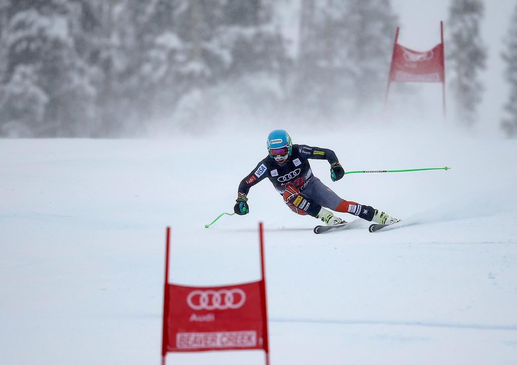 . Ted Ligety of the USA skis during the FIS Beaver Creek Men\'s Downhill World Cup race on December 6, 2013 in Beaver Creek, Colorado.  (Photo by Ezra Shaw/Getty Images)
