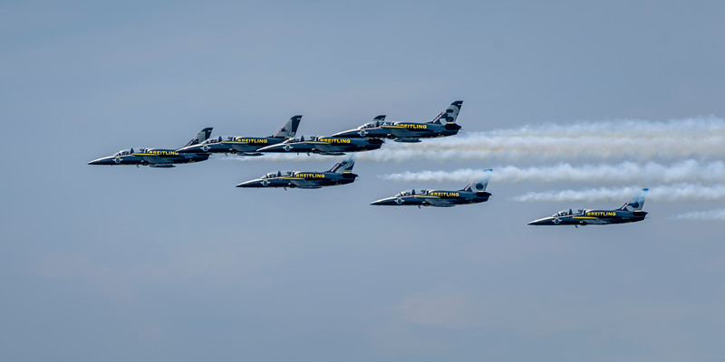 Blue Angles and Breitling at Seafair Air Show