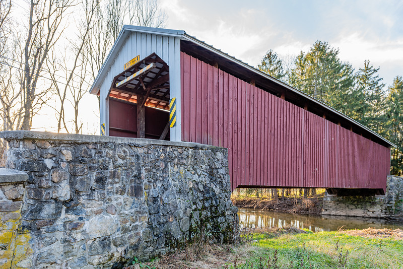 Forry's Mill Covered Bridge Spanning Chiques Creek