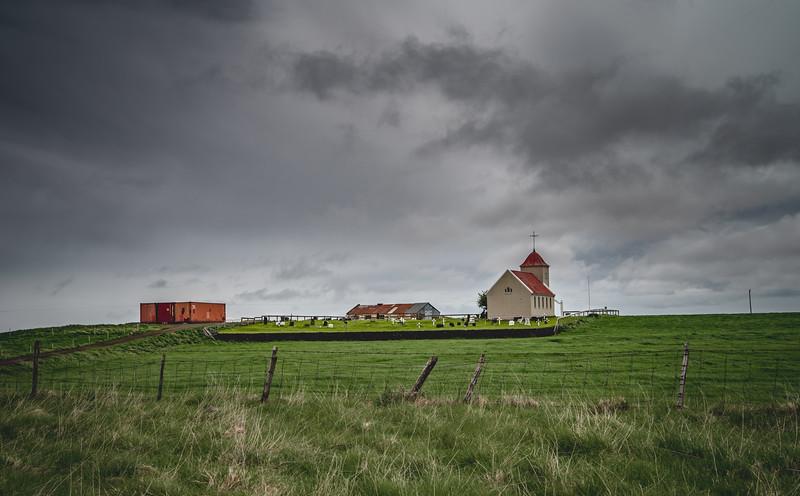 Vik Church & Cemetery  Photography by Wayne Heim