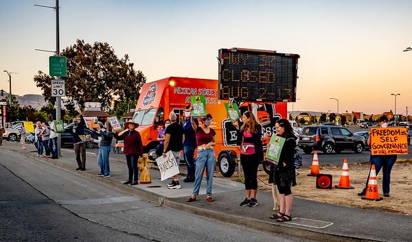 17 July 2021 Petaluma:  Good Trouble: Candlelight Vigil for Democracy