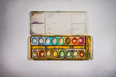 Empty Watercolor Paint Trays