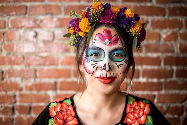 Day of the Dead Flowers and Make up