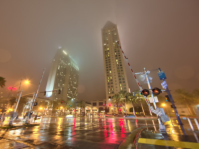 San Diego Rainy Night