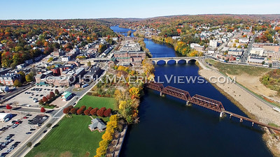 Drone Fall Foliage Flight over the Housatonic River (October 2015)