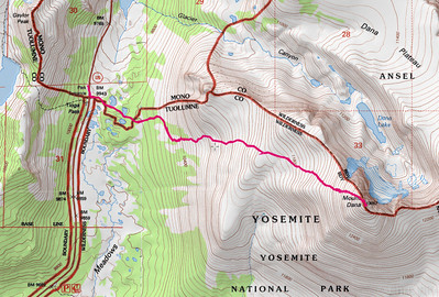 Mt Dana, Saddlebag and Mono Lakes, July 2013
