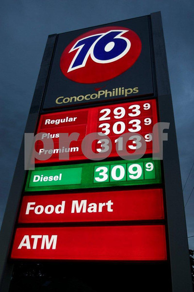 Gas prices on July 17, 2007