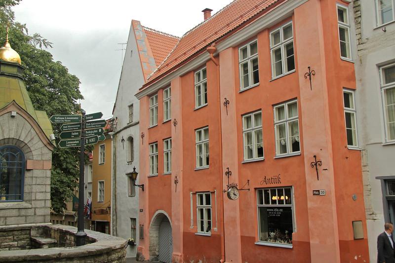 Many sightseeing options along Pikk Street -Tallinn, Estonia