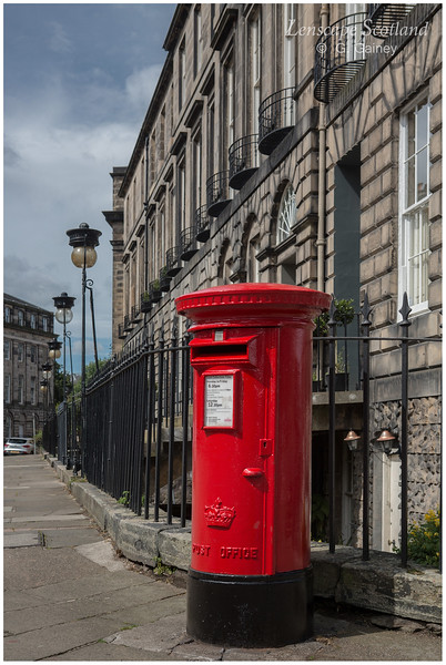 Heriot Row post box and lamps