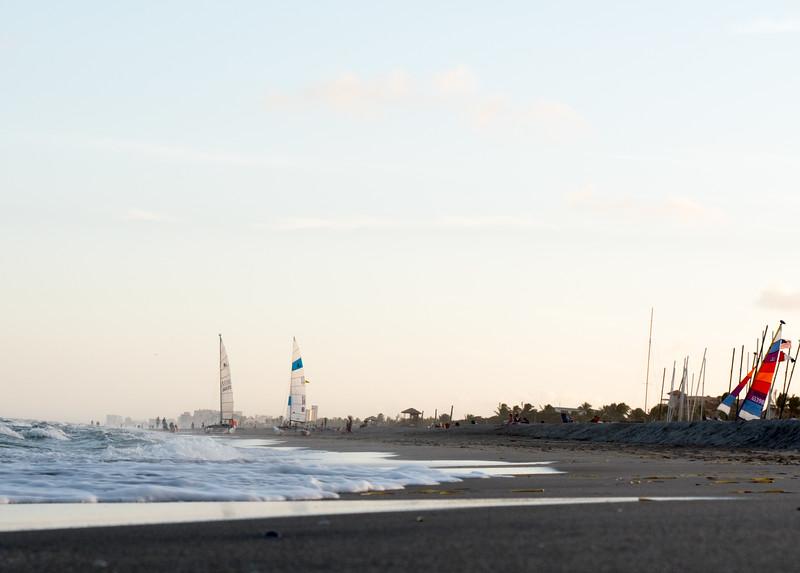 december beach evening
