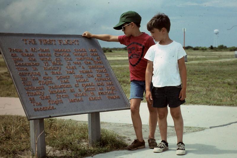 Randy & Jeff at Kitty Hawk First Flight sign