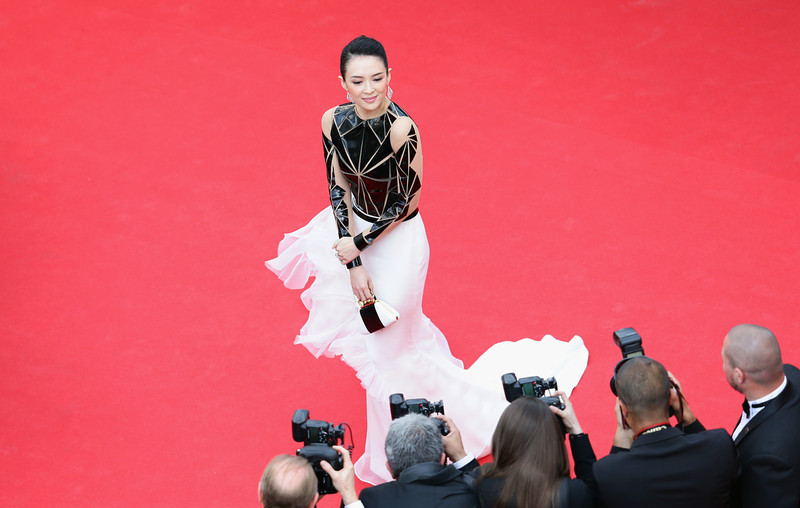 """. Zhang Ziyi attends the Opening ceremony and the \""""Grace of Monaco\"""" Premiere during the 67th Annual Cannes Film Festival on May 14, 2014 in Cannes, France.  (Photo by Vittorio Zunino Celotto/Getty Images)"""