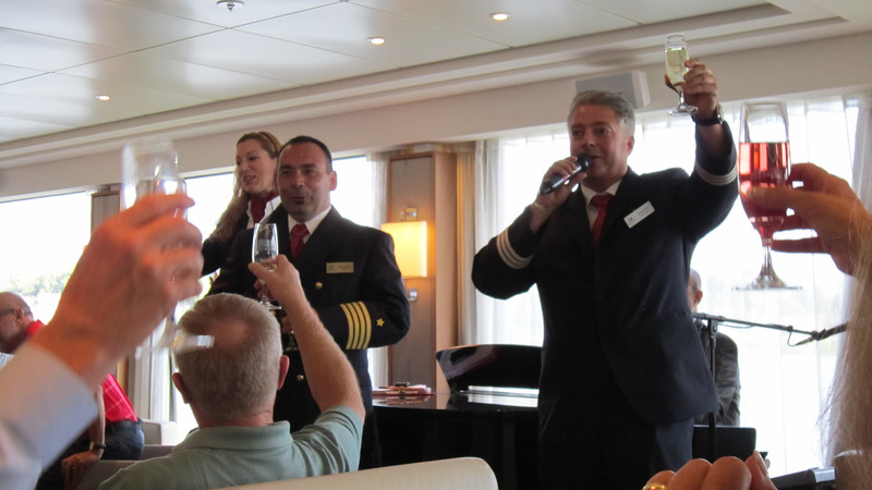 Our cruse director, captain, and the hotel manager.
