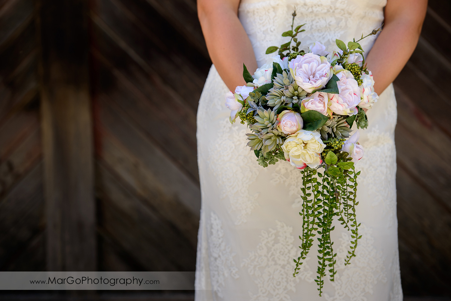 bridal bouquet at Picchetti Winery in Cupertino