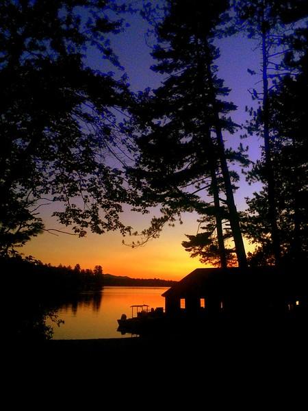 9.24.2015. Sunset , first day of autumn - Ampersand Bay, Lower Saranac Lake, sep 23, 2015..JPG