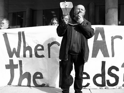 OCAP protests for more shelter beds